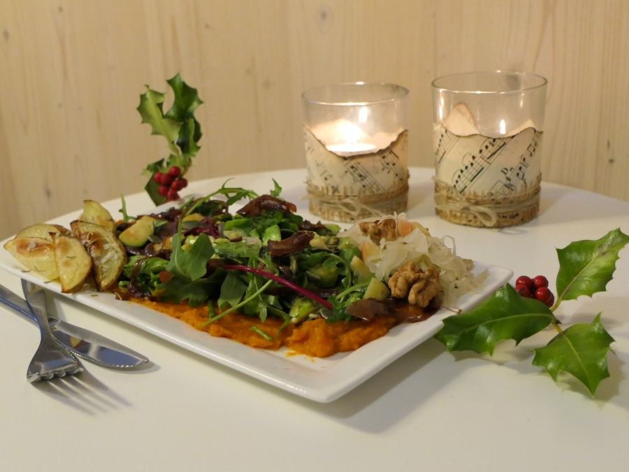 Fulltime Rabbit Kerstmenu: Walking in a Veggie Wonderland